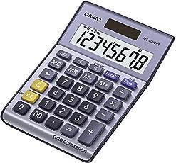 Casio MS-80VERII Tischrechner mit EURO-Umrechnungsfunktion und großem LCD-Display