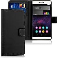 kwmobile Hülle für Huawei P8 - Wallet Case Handy Schutzhülle Kunstleder - Handycover Klapphülle mit Kartenfach und Ständer Schwarz