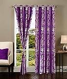 Decor Vatika Eyelet polyester door curta...