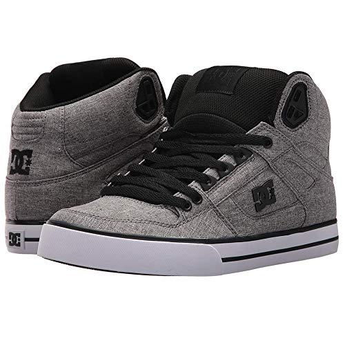 DC Shoes Men s Spartan WC TX SE Hi Top Sneaker Shoes Black Htr Gry 8 4ea1a6e0bc5