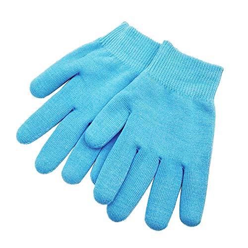 Pinkiou Hände feuchtigkeitsspendende Handschuhe Whitening weichmachende Handschuhe mit SPA Gel (blau)