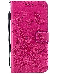 bb33755712 Coque iphone 7 Plus, Coffeetreehouse Bookstyle Gaufrage Conception Motif  Fermeture Magnétique avec Fonction Stand et ID de…