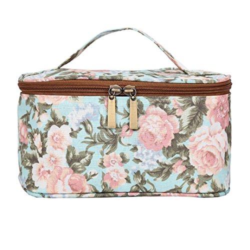 Shage Kosmetiktasche, 12 Frauen Mode Reißverschluss Make-up Tasche Tasche Portable Nylon Wasserdichte Reise Handtasche (Grün) (Designer-handtaschen Clearance)