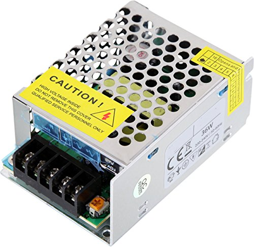 Preisvergleich Produktbild LED Transformator 36W - 230V auf 12V im Metallgehäuse - LED geeignet - Mindestlast 1W max. 36W 3A