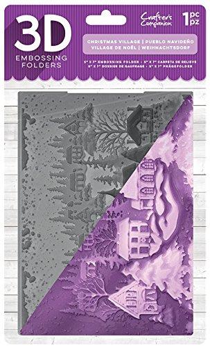 Unbekannt Crafter 's Companion 3D-Prägung Ordner 12,7x 17,8cm–Christmas Village, transparent
