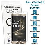 topaccs Asus Zenfone 3 Deluxe : ZS570KL - Véritable vitre de protection écran en Verre trempé ultra résistante - Protection écran