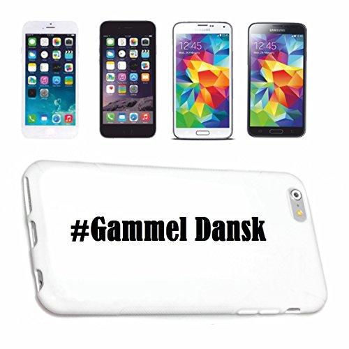 Preisvergleich Produktbild Handyhülle iPhone 6+ Plus Hashtag ... #Gammel Dansk ... im Social Network Design Hardcase Schutzhülle Handycover Smart Cover für Apple iPhone ... in Weiß ... Schlank und schön, das ist unser HardCase. Das Case wird mit einem Klick auf deinem Smartphone befestigt