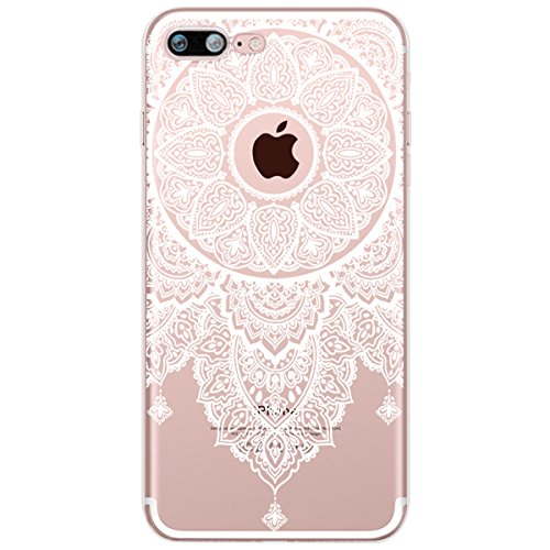 Coque iPhone 6S Plus,Coque iPhone 6 Plus,Ukayfe [Liquid Crystal] Coque en Silicone Souple TPU Housse Etui de Protection avec Absorption de Choc et Anti-Scratch Silicone Transparent Coque [Mandala Moti Mandala#6