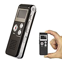8GB Multifunctional Digital Voice Recorder Rechargeable Dictaphone Stereo Voice Recorder with MP3 Player Perfect for Recording Interviews, Conversation and Meetings
