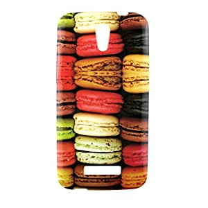 "Housse coque étui silicone gel Alcatel One Touch Pop S7 Motif Macaron - Motif ""Macaron"""