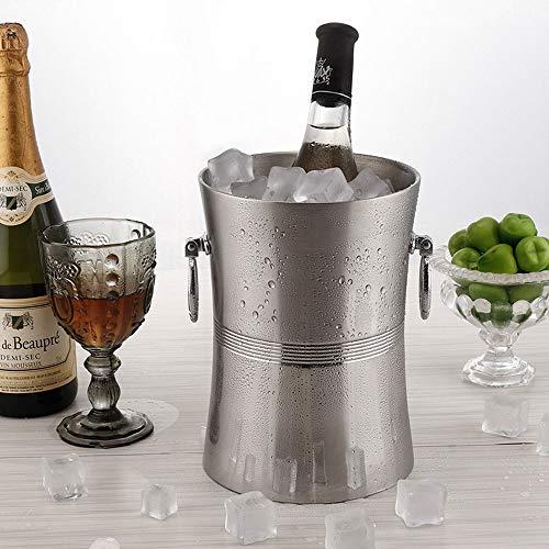 OYYO Wein-Kühler Eimer, Edelstahl Doppelwandweißwein Flaschenkühler Eimer |Isolierte Champagne-Bier 3 L EIS-Wanne