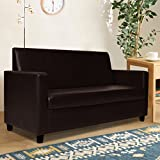 Furny Dublin Two Seater Leatherette Sofa (Brown)