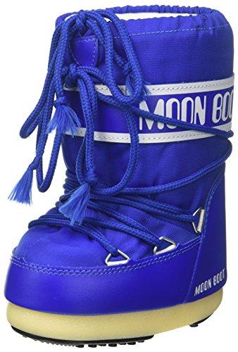 Moon-boot Nylon, Bottes de Neige Mixte Enfant, Bleu (Blu Elettrico 075), 23 EU