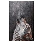 jinhua19 Wolf Howling Sky Beach Towel Soft Quick Dry Lightweight High Absorbent Pool Spa Towel for Men Women 31 X 51 Inch
