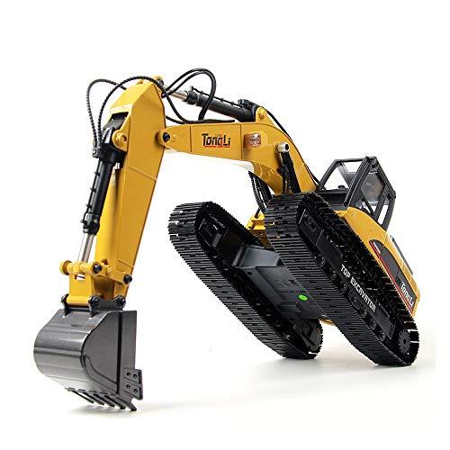 Ycco Lega Escavatore 2.4G Wireless Electric Telecomando Veicolo di Ingegneria Per Ragazzi Lega per Bambini Telecomando Auto Escavatore Trattore Piena Funzionale Ingegneria Costruzione Toy Veicolo Meta