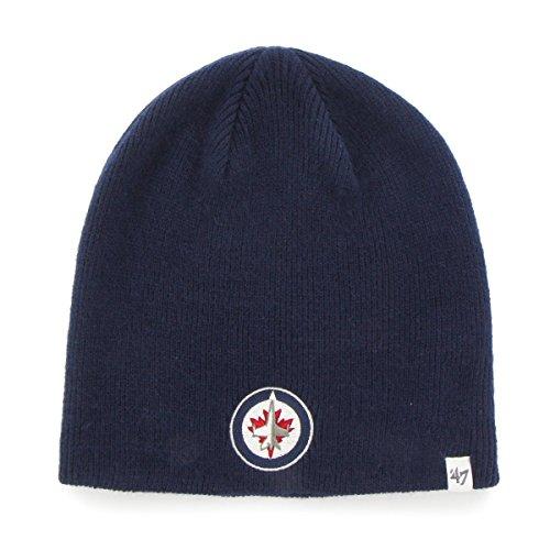 first rate d2fac ee946  47 Brand Winnipeg Jets Beanie NHL Wintermütze Navy.