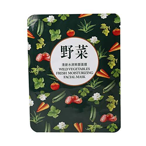 Freshsell Lot de 5 Masques végétaux Boquan Ya Wild Nuit