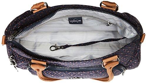 Kipling - Alecto, Borse Baguette Donna Blu (Woven Blue Geo)