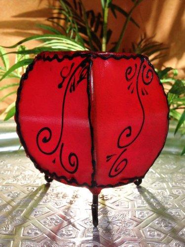 Orient orientalisches Henna Windlicht Hessa Rot -