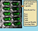 50 Evion Capsules Vitamin E For Glowing Face,Strong Hair,Acne,Nails, Glowing Skin 400mg by MERCK