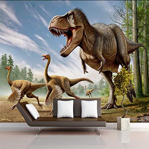TIANZly Wanddekoration des Dinosauriers 3D, die große grüne Seidenstoffwandtapete malt Anpassbare Größe