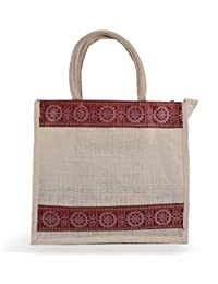 Jute Shopping Handbag For Office Executive Men/Women/Girls/Unisex/Jute Bags With Zip