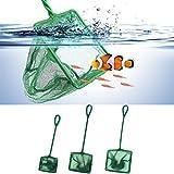 LNIMIKIY Aquariumnetz, für Aquarien, Tropische Meere, große kleine Fische, schnell fangen, Fischnetz, Drahtgefangnetz, Fangnetz