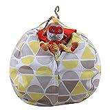 LY-LD Kid es Stuffed Storage Bean Bag Chair mit Extra Long Zipper, Carrying Handle, 100% Sturdy Leinwand-für gefüllte Spielzeuge/Kleidung/Quilts Lagerung,B,38inch