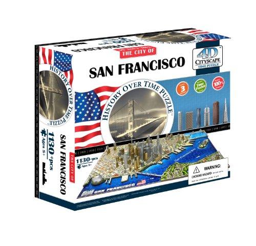 4D Cityscape San Francisco History Time Puzzl
