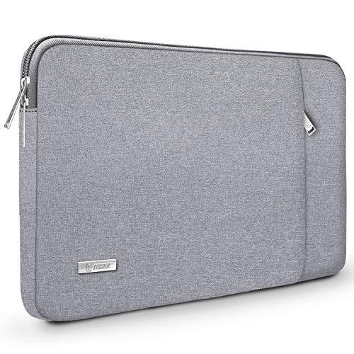 TECOOL 14 Zoll Laptop Hülle Tasche Schutzhülle Sleeve mit Zubehörtasche für 2016-2019 MacBook Pro 15, 14 Zoll ASUS Lenovo Dell HP Acer Huawei Notebooks Ultrabooks, Grau