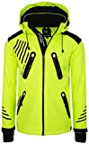 Rock Creek Herren Softshell Jacke Outdoorjacke Windbreaker Übergangs Jacke H-140 [Neonyellow XL]