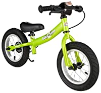bike*star 30.5cm (12 Inch) Kids Child Learner Balance Beginner Run Bike - Sport - Colour Green