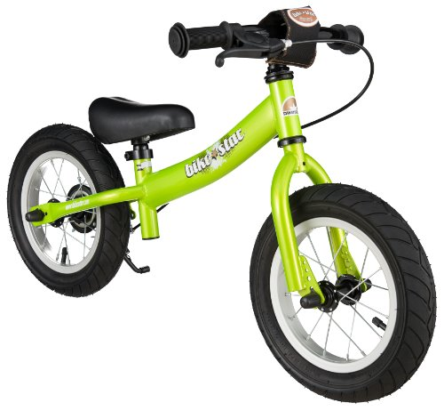 bike*star 30.5cm (12 Inch) Kids Child Learner Balance Beginner Run Bike - Sport - Colour Green