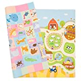 Spielmatte - BABY CARE - Busy Farm - Large - 2,1m * 1,4m * 13mm