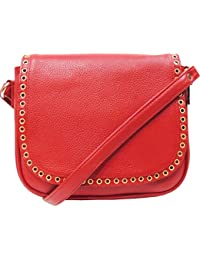MEX Women's Leather Sling Bag (Red)