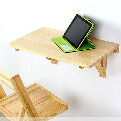 YMXLJF Massivholz Wandtisch, faltbare Wandtisch, Esstisch Computer Schreibtisch Schreibtisch Hausbar...