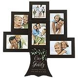 Malden International Designs Our Family Tree–Growing Erinnerungen Ein Lächeln Holz Bilderrahmen, 6Option, 4–4x 6& 2–4x 4, braun