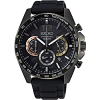 Seiko herenhorloge met silicone armband SSB349P1