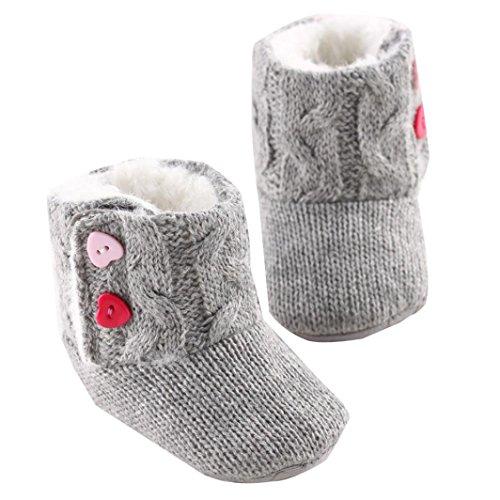 Fulltime® Bébés filles hiver semelle souple en coton Bottes Toddler Chaussures Prewalker