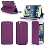 Etui luxe iPhone 6S 4.7 16/32/64 Go (Wifi/3G/4G/LTE) Ultra Slim violet Cuir Style...