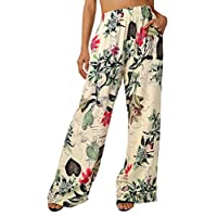 BaiShengGT Floral Pants for Women, Women