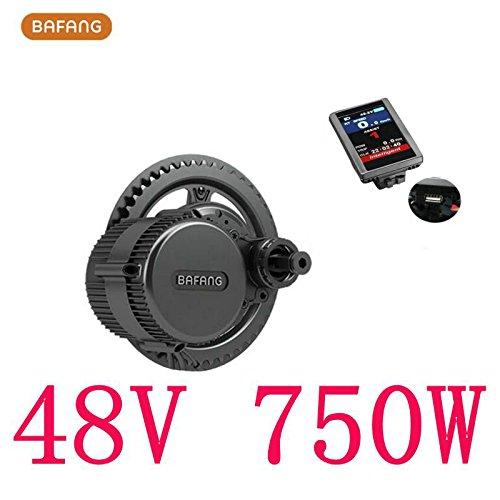 Bafang 8fun Mid Drive Crank Motor, 48v 750w 25A BBS02 Ebike kit,C965 LCD Display