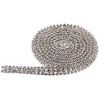 Strasskette Strassband Kristall Silber Brillantschliff SS16 4mm 1 Meter