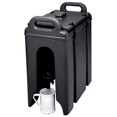 Cambro Camtainer Contenedor Isotermico de Liquidos con Grifo, Negro, 47x42x23 cm