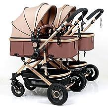 Bicycle LVZAIXI Cochecito de bebé de Alta Intensidad Amortiguador Cochecito de bebé Plegable Carrito (Color