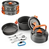 Best Camping Pots - Camping Cookware 1-5 People,Outdoor Cooking Pots Equipment Stainless Review