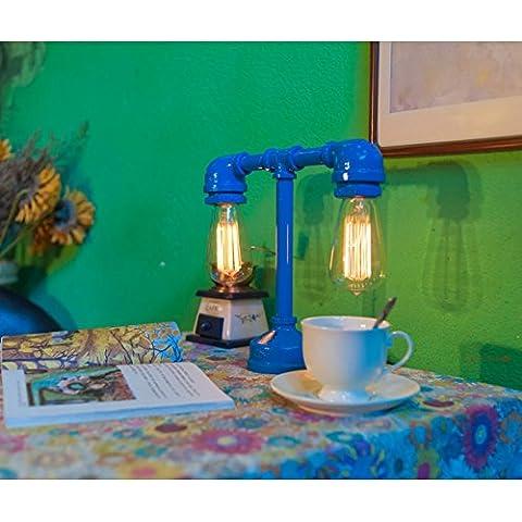 bar bar lampada d'epoca industriale edison studio lampada toccare l'acqua ( colore : Blu )