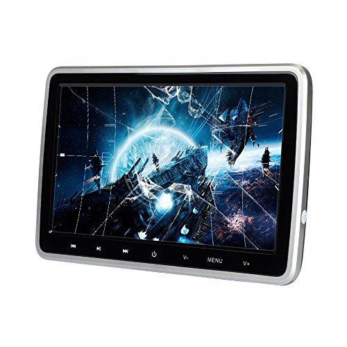 Lecteur DVD de voiture Appuie-tête Moniteur de télévision Moniteur 10,1 pouces HD TFT LCD Ultra-mince Lecteur vidéo de voiture Système de divertissement de véhicule assis à l'arrière avec télécommande HDMI USB SD Port (CL101DVD)