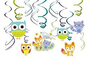 Amscan 671452Woodland decoraciones de remolino de bienvenida