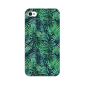 Mobicture Abstract Tropical Pattern Premium Printed High Quality Polycarbonate Hard Back Case Cover for Apple iPhone 4 With Edge to Edge Printing